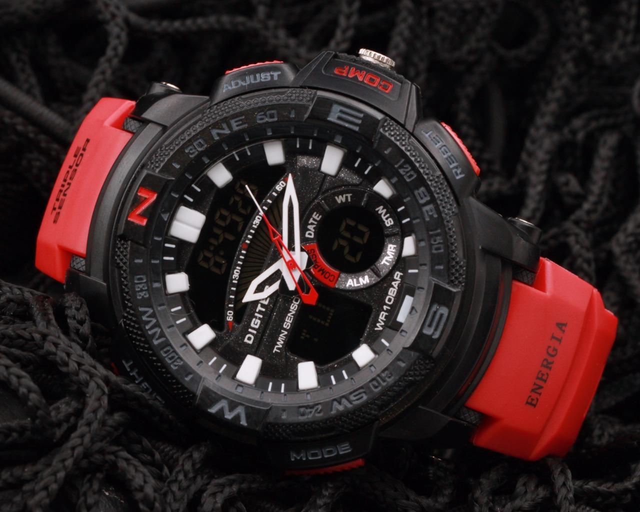 Jual Beli Jam Tangan Edireiz Original Digital Analog Digitec G Shock Sport Couple Black Grey Dual Time Dg2083