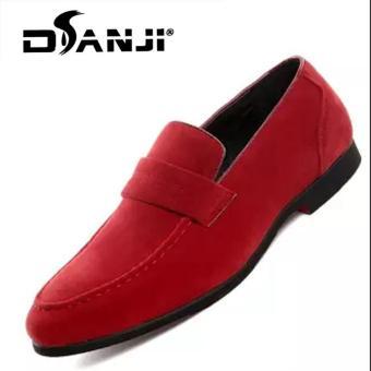 Review of DANJI Pria Sepatu Formal Bisnis Kasual Oxfords Kulit Sepatu  Merah-Intl anggaran terbaik - Hanya Rp235.728 b7e7700a52