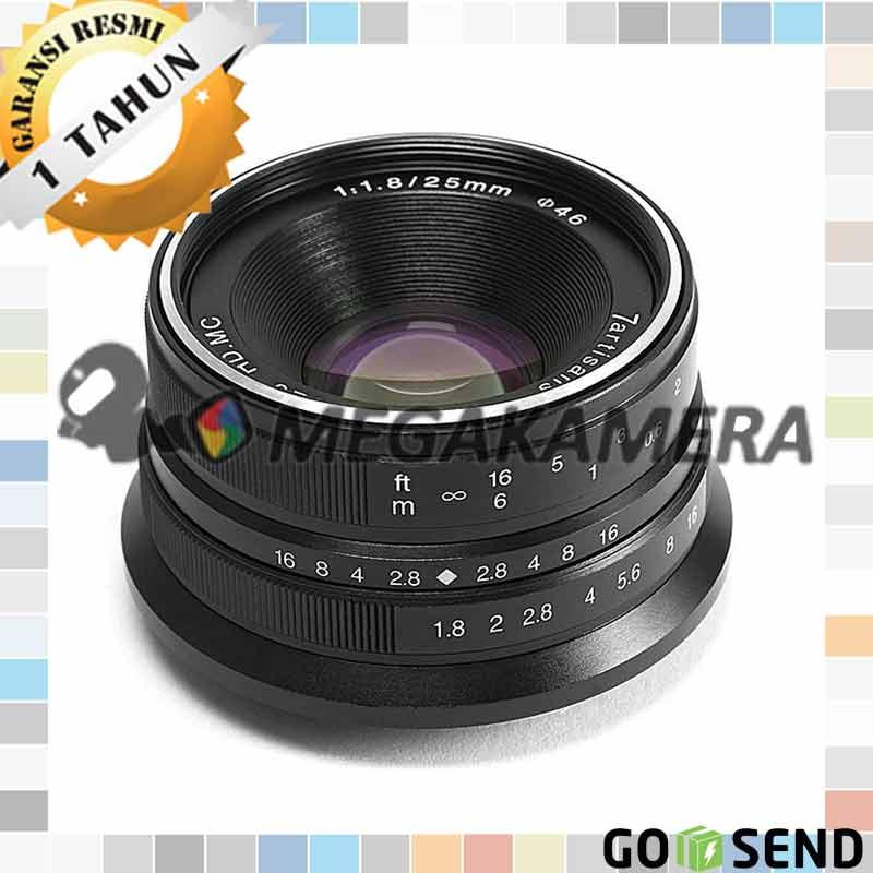 7artisans Lensa 25mm F1.8 Manual Focus Prime Fixed Lens for Canon Eos-M