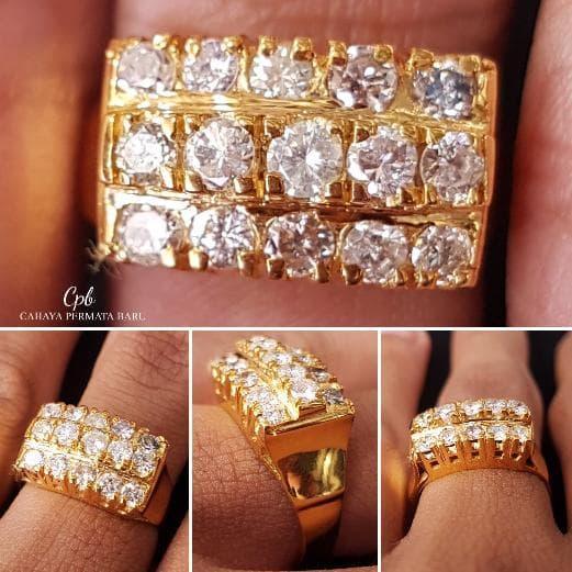 New Cincin Emas 4.30 Gram Berlian Banjar 1.02 Carat Fashion Wanita