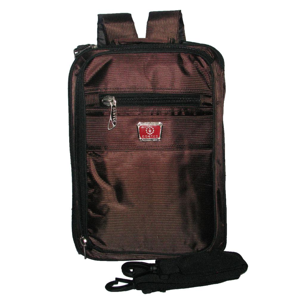 Tas 3in1 / Selempang /Ransel / Jinjing Waterproof Notebook 12 inci - Coklat