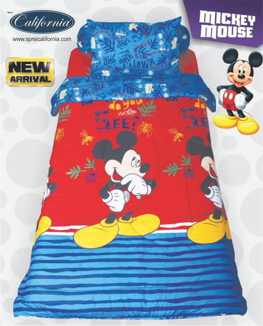 BEDCOVER SET CALIFORNIA MICKEY MOUSE SINGLE 120 No.3 BCS DISNEY MIKI Exclusive