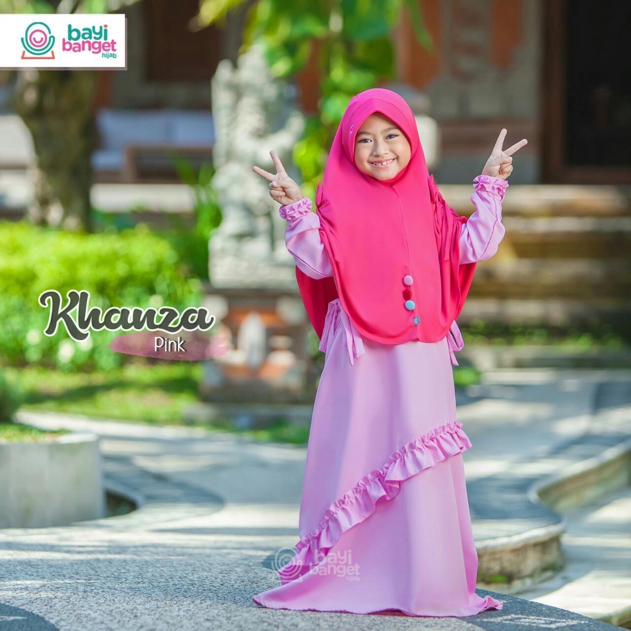 Fairuz Hjab, TERCANTIK ! Baju Gamis Anak Perempuan, Gamis Anak Terbaru, Gamis Anak Branded, Gamis Anak Muslimah, Baju Muslim Anak Cewek, Baju Muslim Anak Lucu, Baju Muslim Anak Syari, Kanza Series Warna Pink ( Merah Muda ) Untuk Anak Umur 4 - 12 Tahun