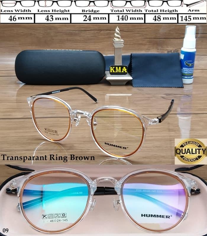 Frame kacamata minus HUMMER kacamata frame minus HUMMER oval elastis