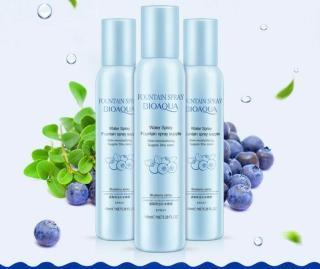 Bioaqua fountain spray - Supple Shu Care Moisturizing & Whitening with Blueberry Extract Toner Pelembab Menyegarkan dan Mencerahkan Wajah) thumbnail