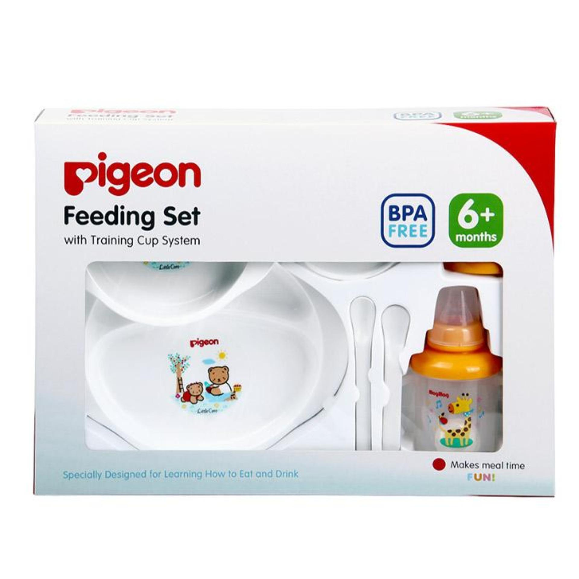 Perlengkapan Makan Bayi Terlengkap Hot  Pigeon Home Baby Food Maker Alat Pembuat Mpasi Feeding Set Large With Training Cup