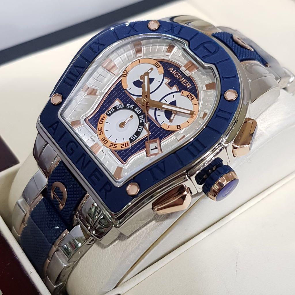 Jual Jam Tangan Aigner Original Wanita Blue Leather Garansi 2 Tahun