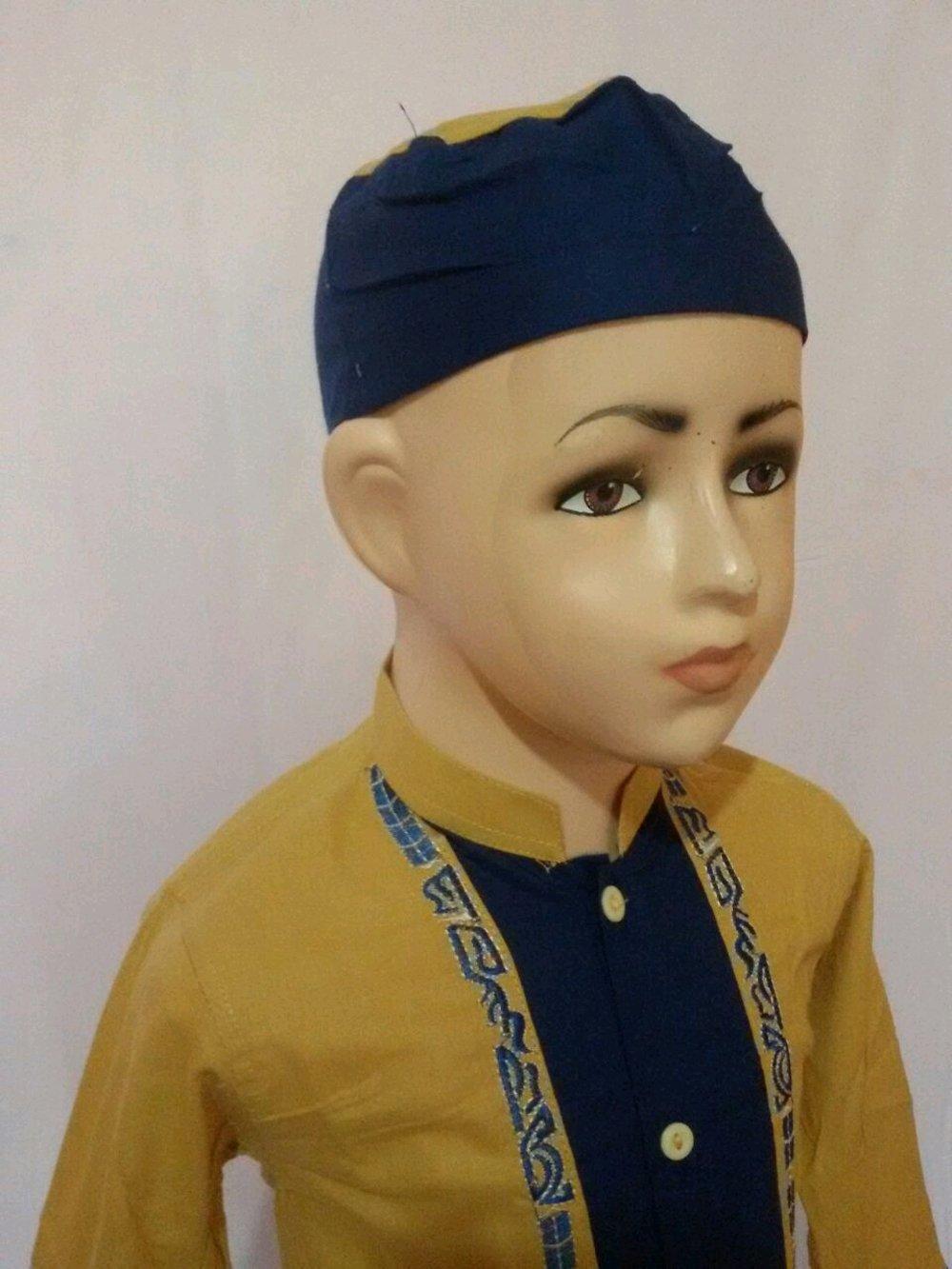 Baju Muslim Setelan Baju Koko Anak Kuning Biru Lengan Panjang Tanah Abang Jakarta SAK 065L di lapak Al Muttaqin Collection produsenbajukoko