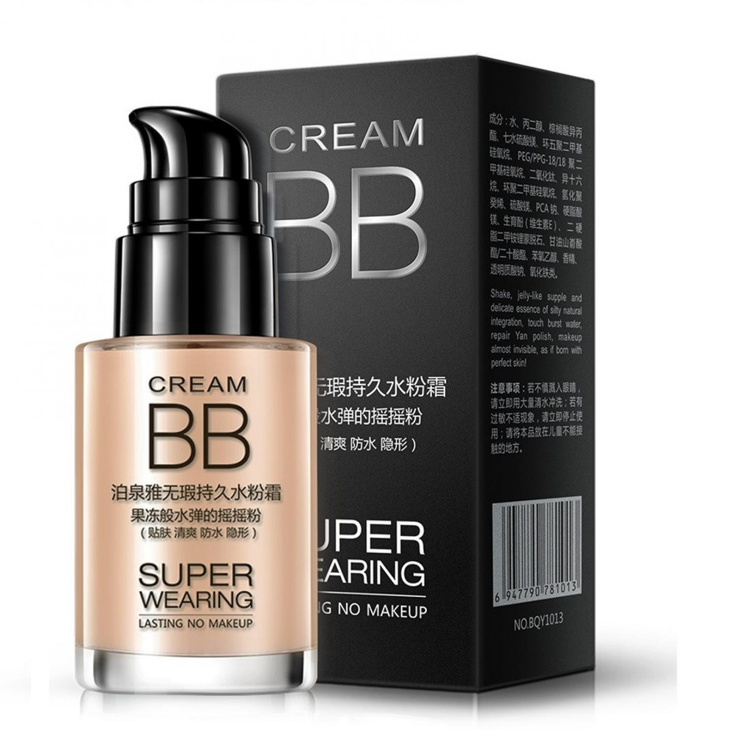 Bioaqua BB Cream Super Wearing Lasting 30ml Concealer Foundation Coverage Krim Wajah Original Asli Waterproof Makeup