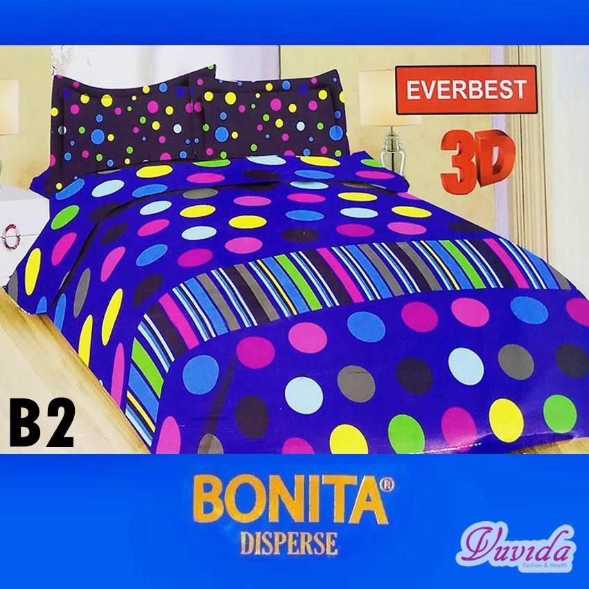 Bonita Disperse Sprei KING B2 Motif EVERBEST 3D - 180 x 200 cm / Bonita / Bonita sprei / Sprei Karakter / sprei / Sprei tempat tidur / sprai kasur