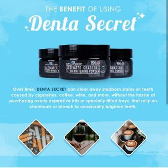 Pencarian Termurah Denta Secret Charcoal Teeth Whitening Powder - Pemutih Gigi Alami harga penawaran - Hanya Rp129.876