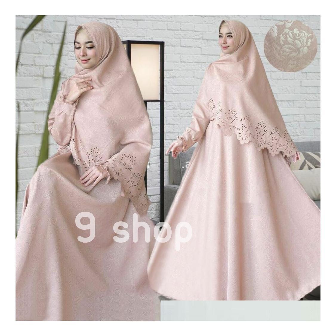 9 Shop Baju Gamis Syari Dress Maxi Muslim Wanita RESITA + Jilbab / Baju Muslim Wanita / Gamis Muslim / Dress Muslimah / Syari'i Muslimah / Gamis Dress / Gamis Emboss / Gamis Murah / Gaun Muslim / Gamis Remaja / Gamis Terbaru