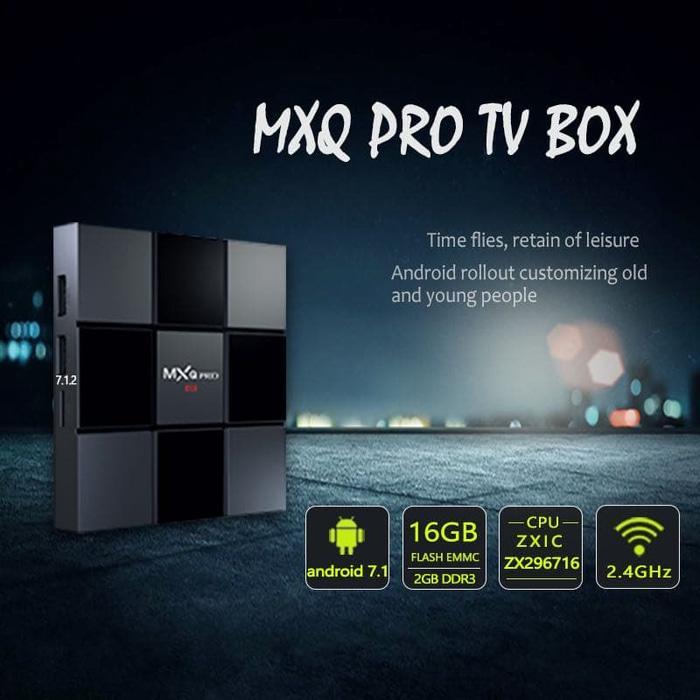 Harga Promosi!!! MXQ PRO 4K Android TV Box 2GB/16GB WiFi Bluetooth And