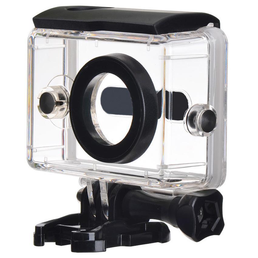 Underwater Waterproof Case Anti Blur Lens IPX68 40m for Xiaomi Yi Sports Action Camera Casing Housing Pelindung Kamera Aksi Anti Air Debu Goresan Lensa Tidak Berembun Rapat Material PC Transparant Cases for Diving Snorkling Selam Menyelam Renang Swim