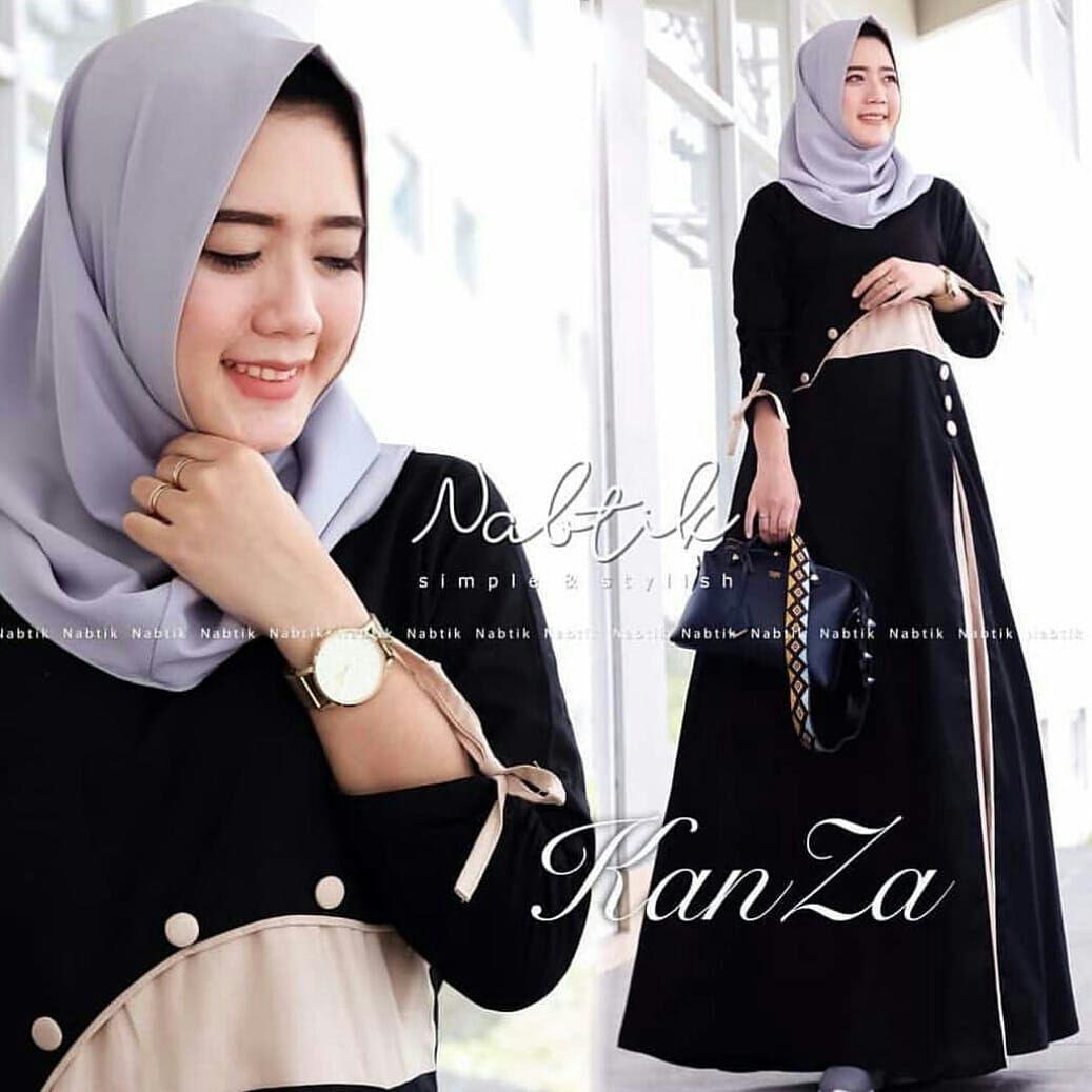 DoubleC Fashion Baju Wanita Baju Gamis Baju Muslim Kanza Dress
