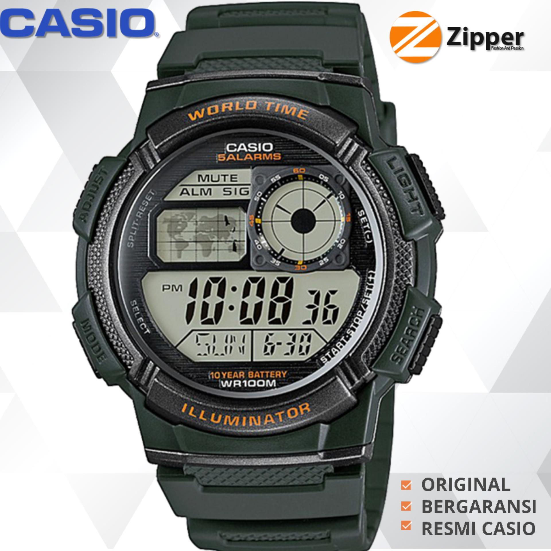 Casio Illuminator Jam Tangan Digital Men and Women AE-1000W Youth Series -  Tali Karet 520ef702d2