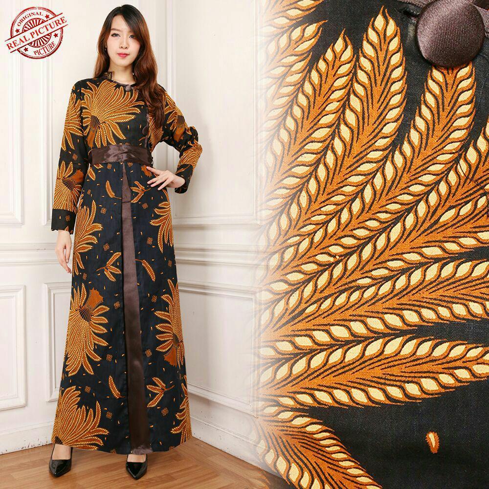 SB Collection Gamis Maxi Dress Tyas Longdress Terusan Batik Wanita