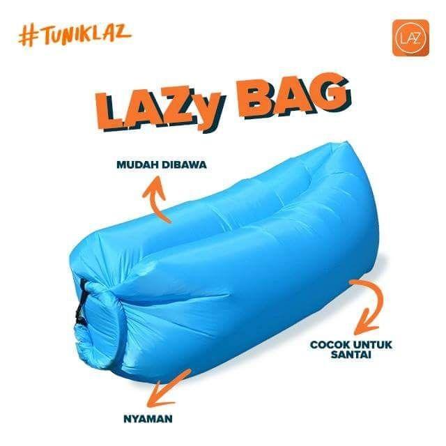 Sofa Angin Lipat  Sleeping Hangout Bag - Biru Muda