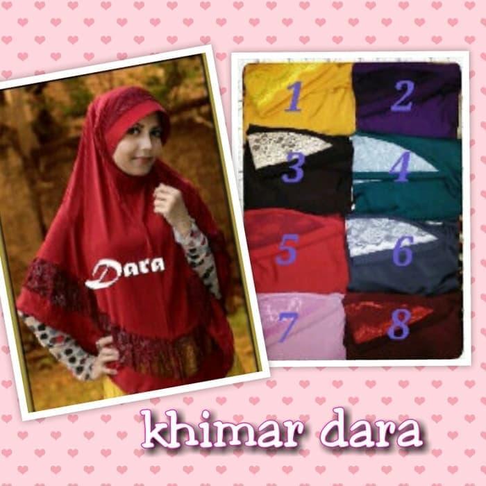 Promo Terbaru!  T2105 Khimar Dara / Bergo Dara New Murah!
