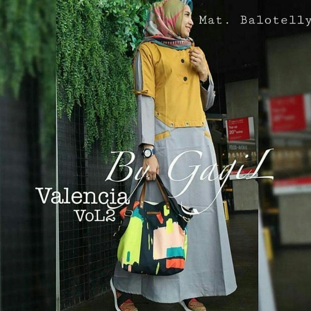 New Valencia Dress / Gamis Busui / Maxi Dress (Atas Abu)