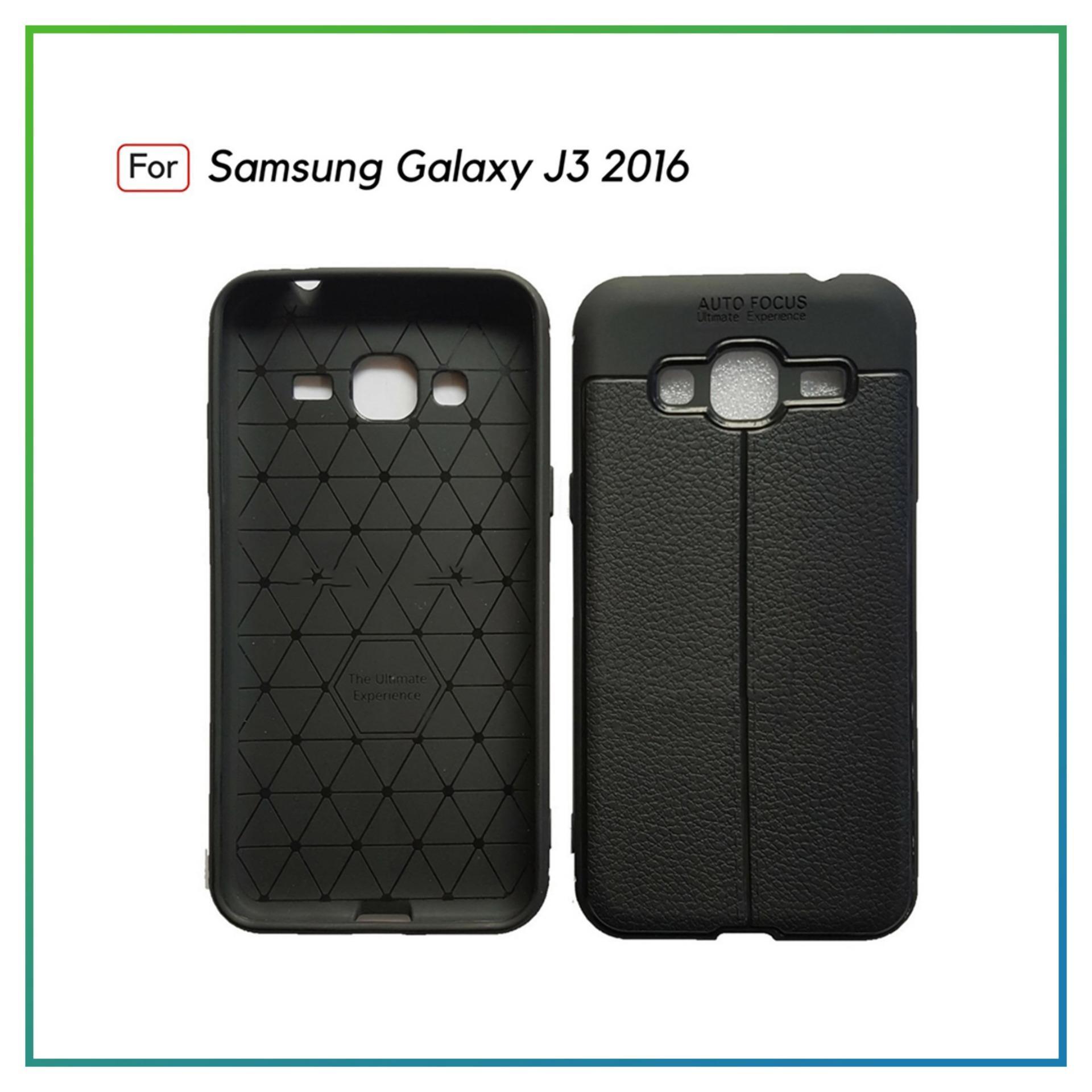 casinghp Super Premium Ultimate Shockproof Leather Case For Samsung Galaxy J3 2016 - Black