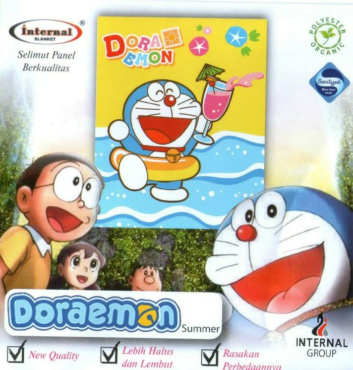 SELIMUT INTERNAL DORAEMON QUEEN 160 No.2 BLANKET DOREMON BERENANG LAUT EXCLUSIVE