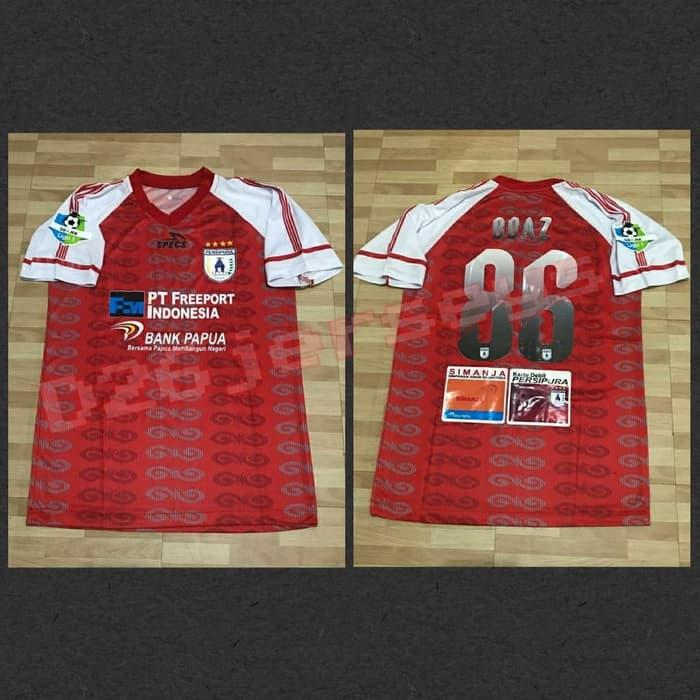 Best Top Seller!! Jersey Persipura Jayapura Away Liga 1 2018 Official +Cetak Nama +Patch - ready stock