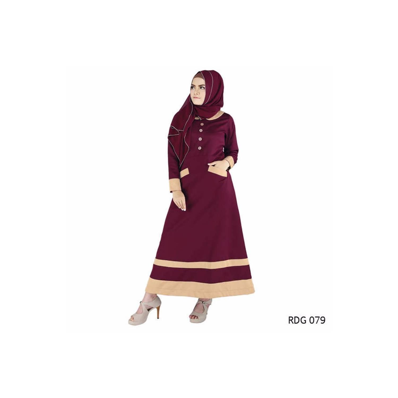 best seller Baju Gamis Wanita Modern Simple Cocok untuk lebaran