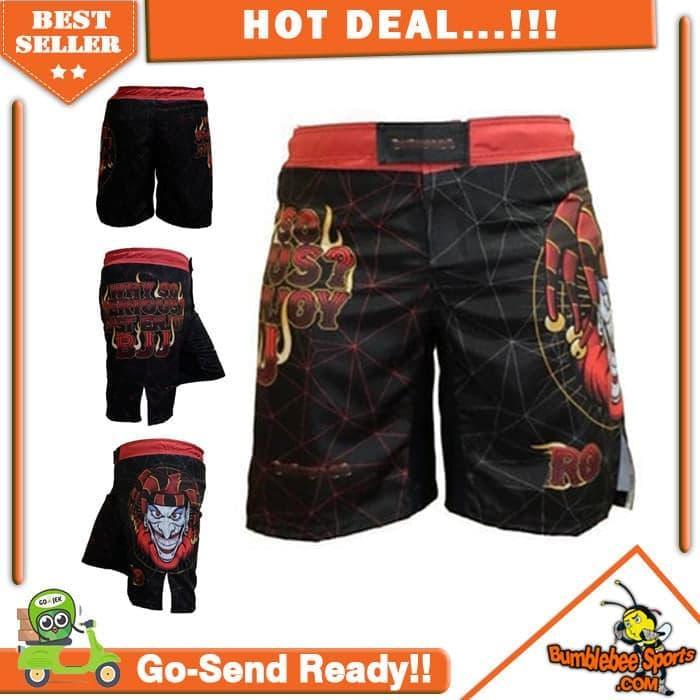 ASLI!!! sarung tinju aksesoris olahraga Celana MMA Joker Combat MMA Shorts Fi - LJqeR5