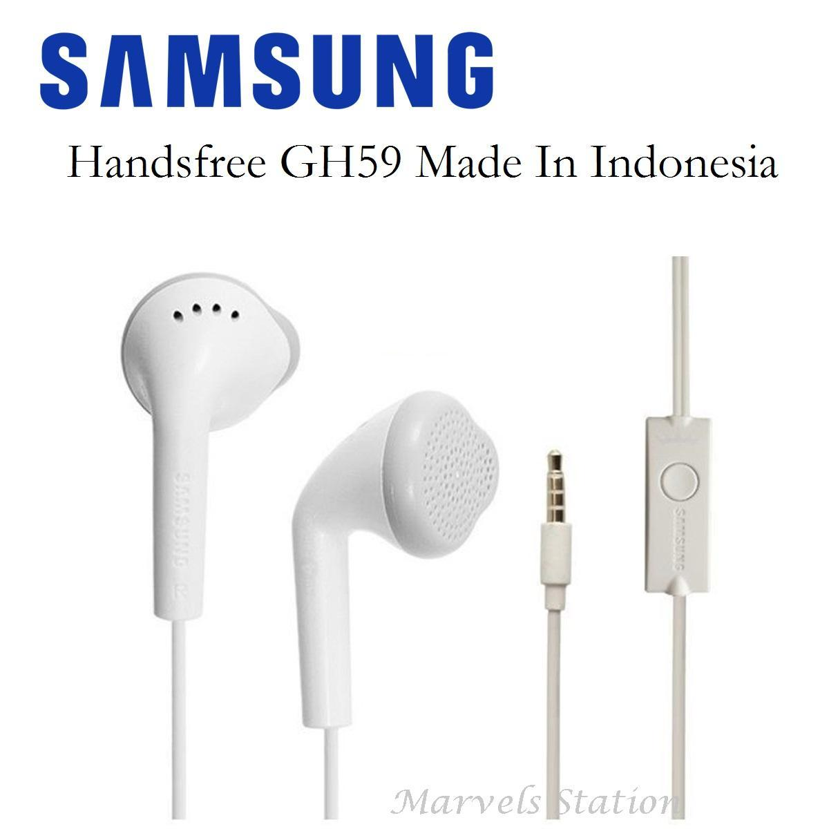 Samsung Headset/Handsfree GH59 Made in Indonesia Original bawaan Hp