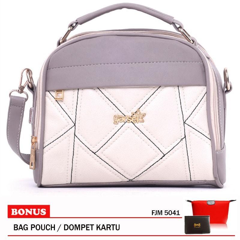 Garsel Fashion Shoulder Bag Tas Selempang Wanita FJM 5041 Cream Kom