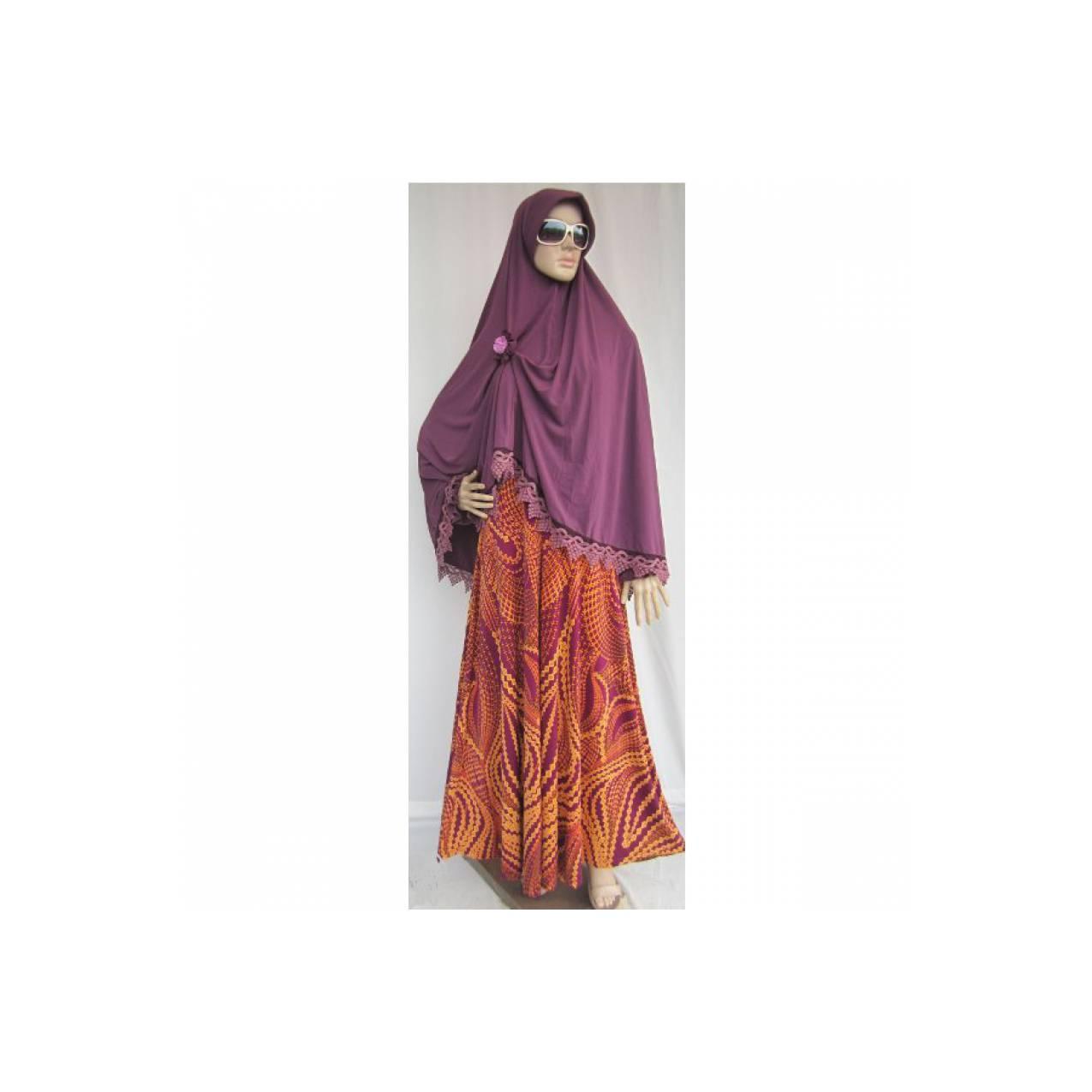 Gamis Syar'i Iwakuni jersey Motif Batik GI9533