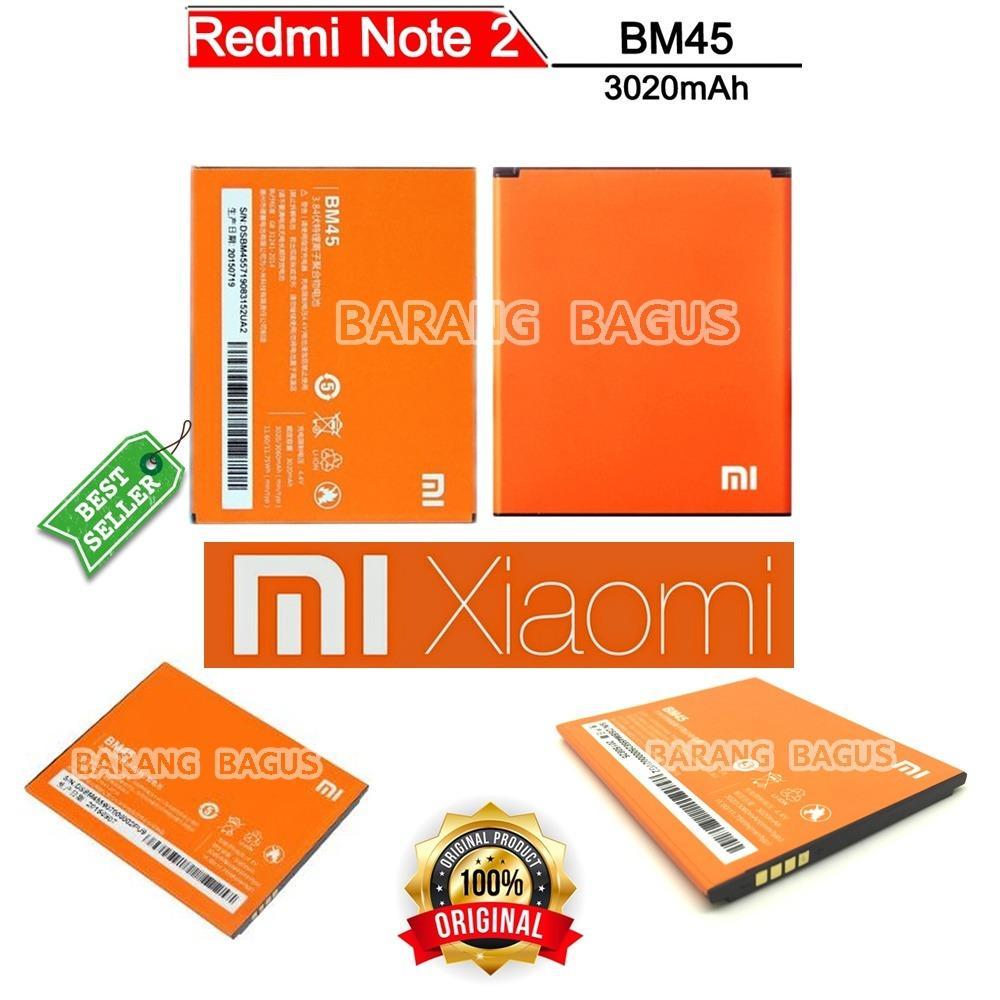 Xiaomi Baterai / Battery BM45 For Xioami Redmi Note 2 Kapasitas 3020mAh Original [ barang bagus ]