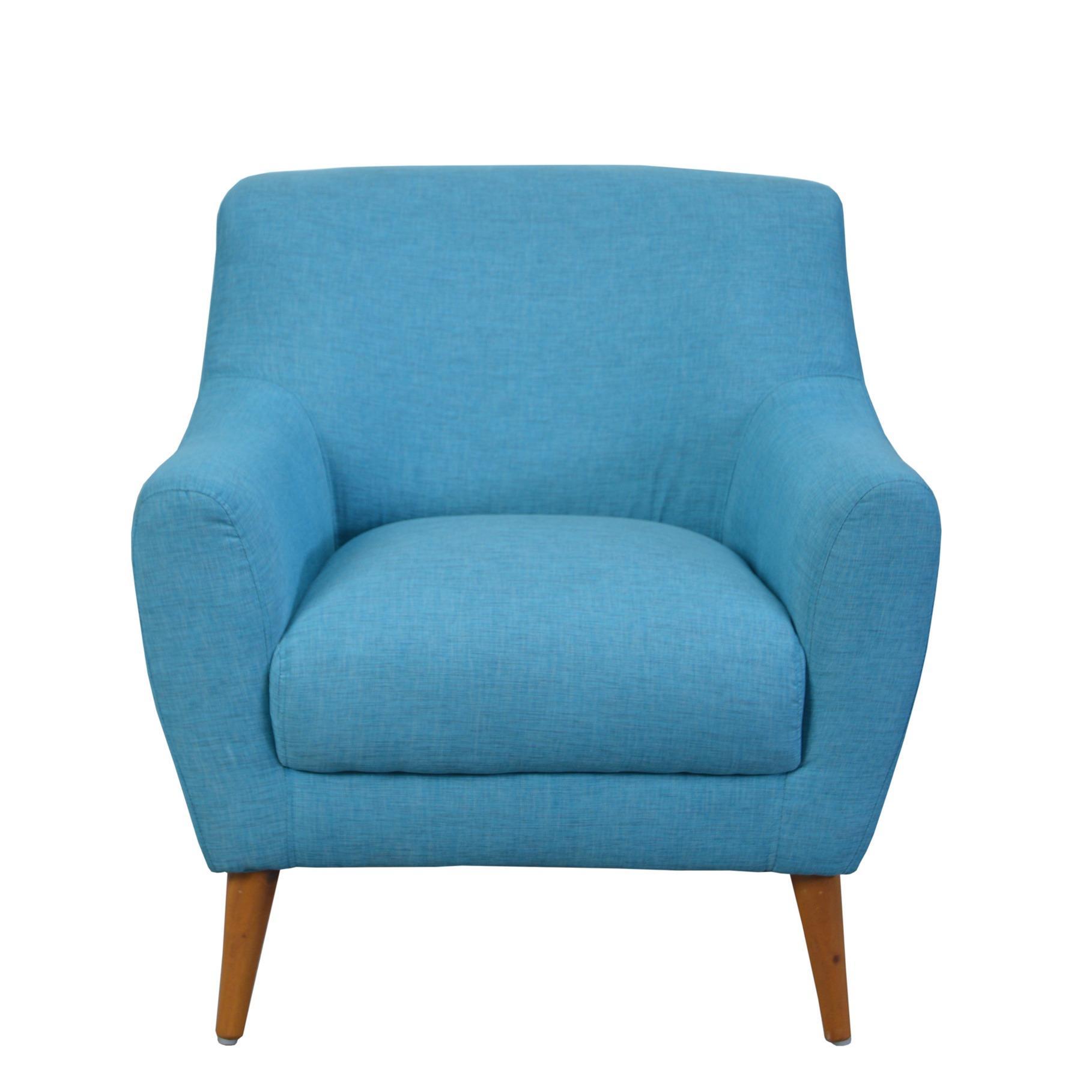 Sofa Isabel 1 Seater - Biru - Khusus Jabodetabek