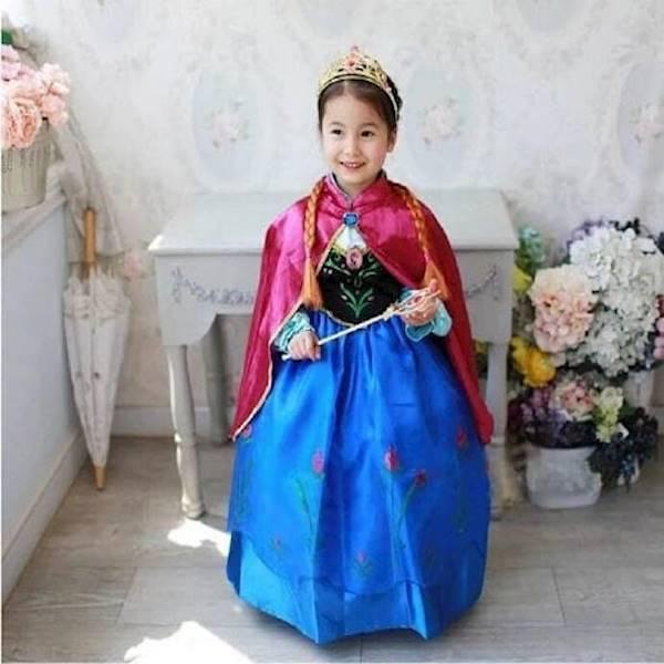 Baju Dress Kostum Anna Frozen Jubah Merah (Termurah)