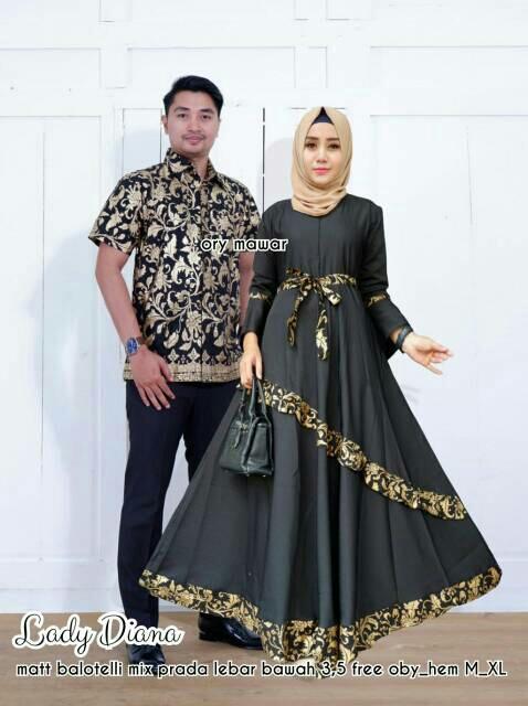 DreamLine Baju Sarimbit Pria Wanita Baju Batik Couple Kekinian Terbaru Tua Muda Trendy Lady Diana Couple