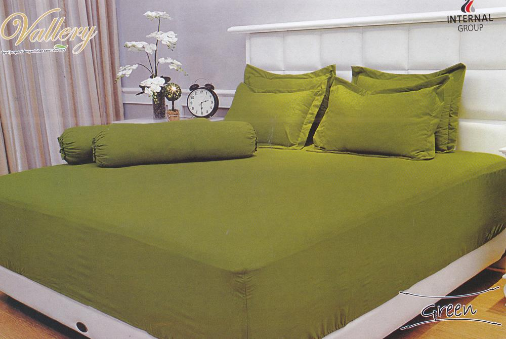 Internal Vallery Green Sprei Set 160x200x30cm (Queen Size)