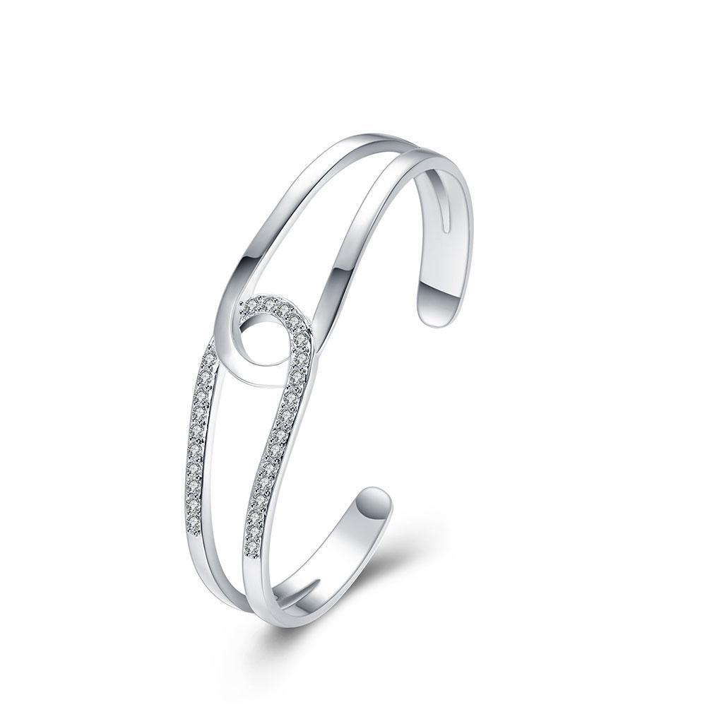 Angin Chanel gelang perak sederhana B180 LKNSPCB180