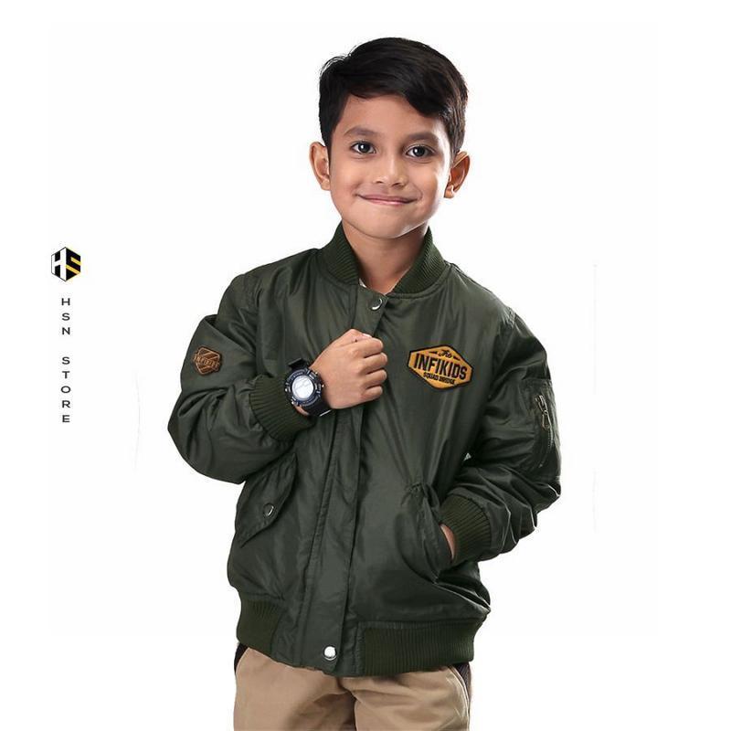 INFIKIDS Jaket Tebal Anak Laki Laki Umur 6 - 12 Tahun IYN 949-168 Hijau