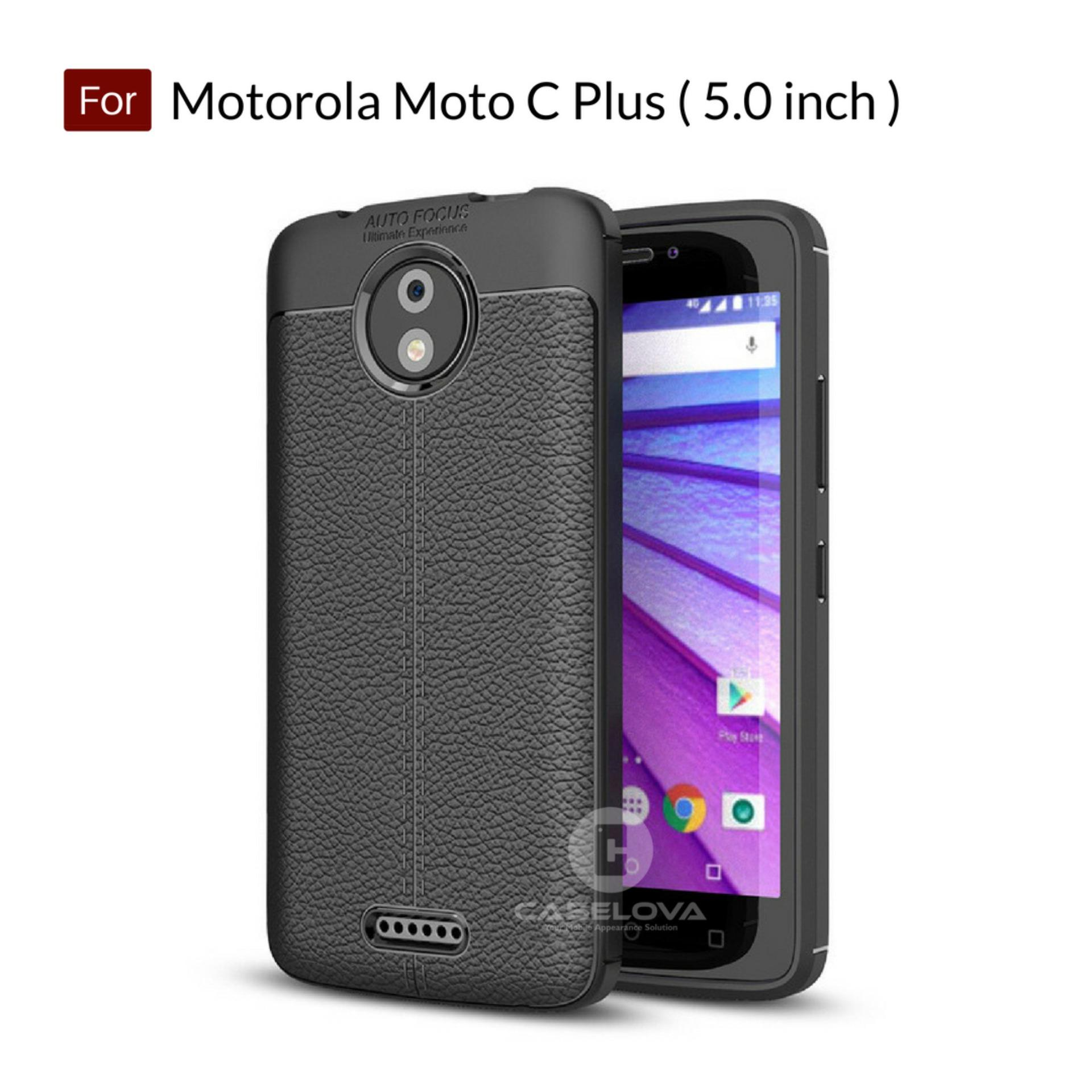 Caselova Ultimate Experience Shockproof Premium Quality Hybrid Case For Motorola Moto C Plus ( Moto C+ ) Layar 5.0 inch - Black