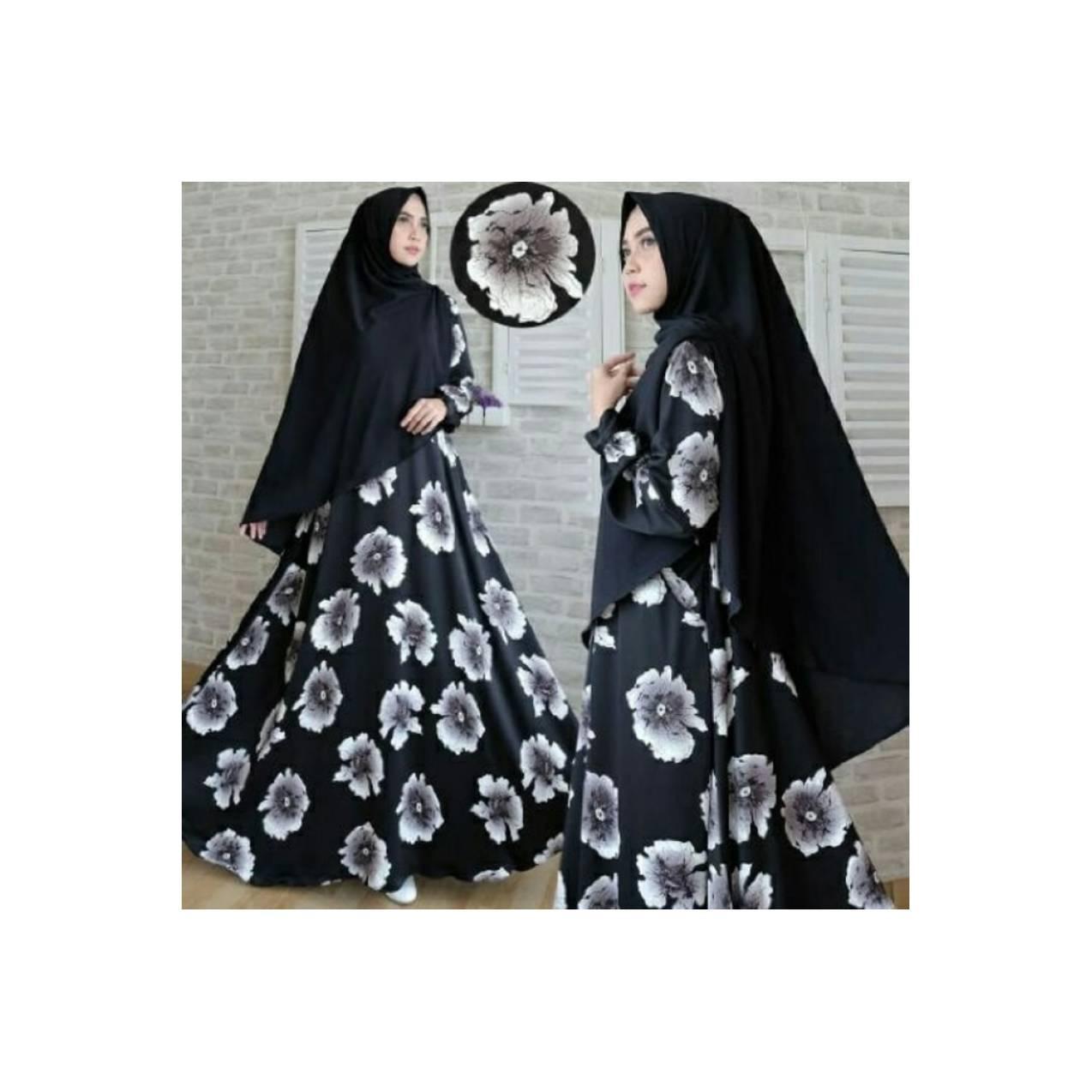 Baju Pengantin Muslimah 120178 GAMIS WANITA ZANITHA SYARI HITAM