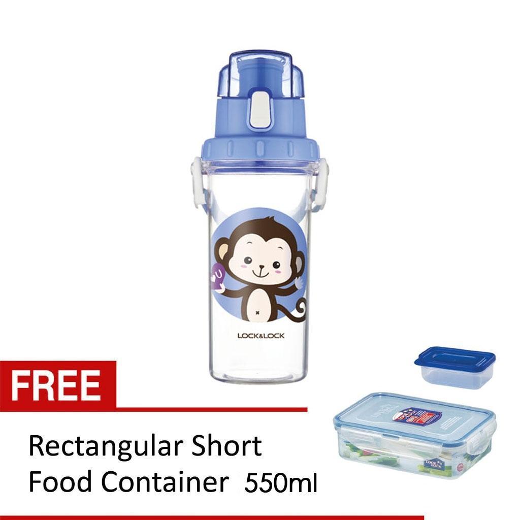 Botol Minum Lock 600ml Saringan Tali Sports Water Bottle Locklock One Touch Cap Green Hlc951grn Kids Air Anak Biru Free Food Container 550ml 150ml