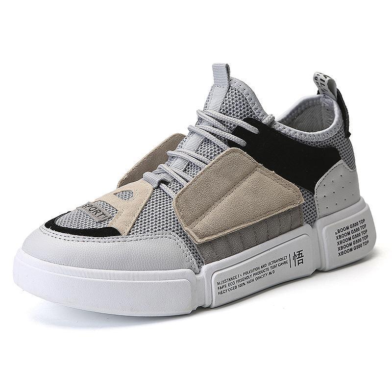 Musim dingin ins Sepatu pencerahan OLdPAPA Sepatu sepatu pria bernapas sepatu sneaker Gaya Korea pasang Pria Olah Raga sepatu kasual