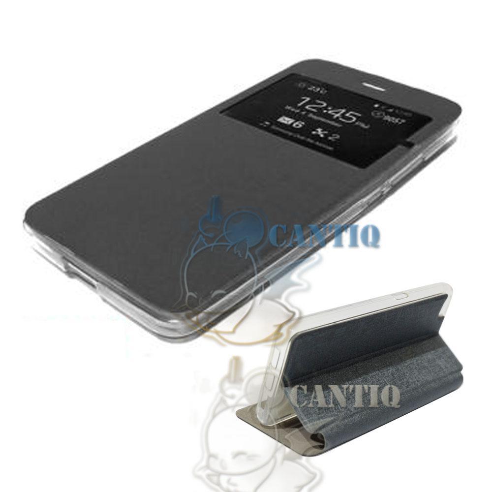 Ume Leather Case Asus Zenfone Max Pro M1 ZB601KL View Flip Cover Zenfone Max Pro M1 View / Flipshell / Leather Case Sarung HP Sarung Asus Zenfone ZB601KL Casing Asus Zenfone Max Pro M1 ZB601KL - Abu-abu