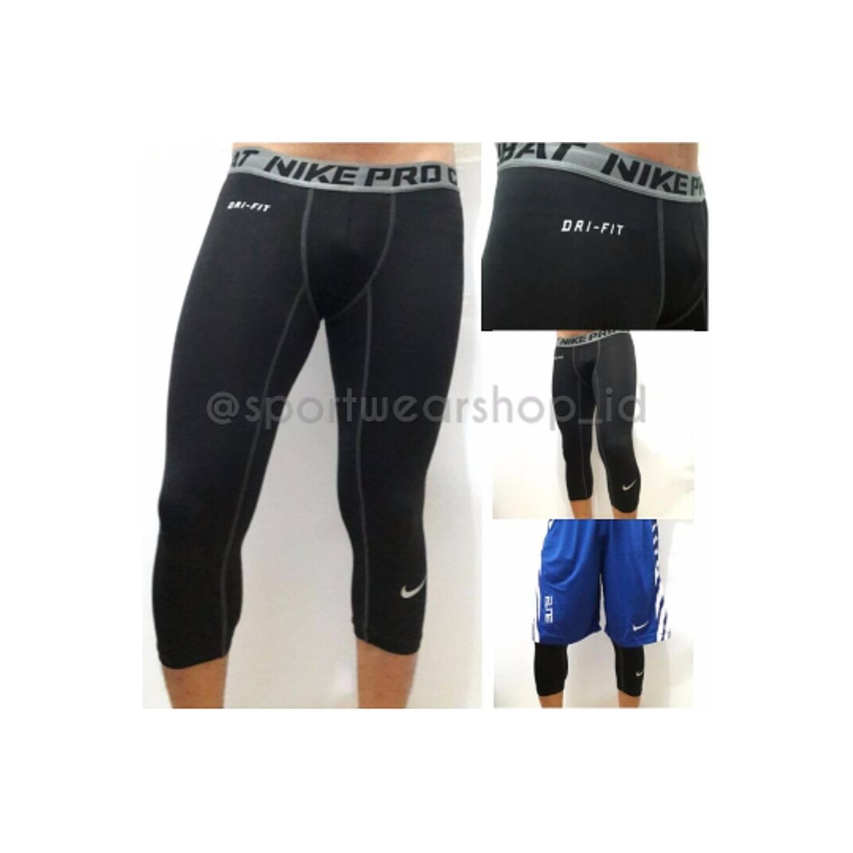 bola basket online Nike Pro Combat NPC Celana Panjang Longpant 3 4 Ba
