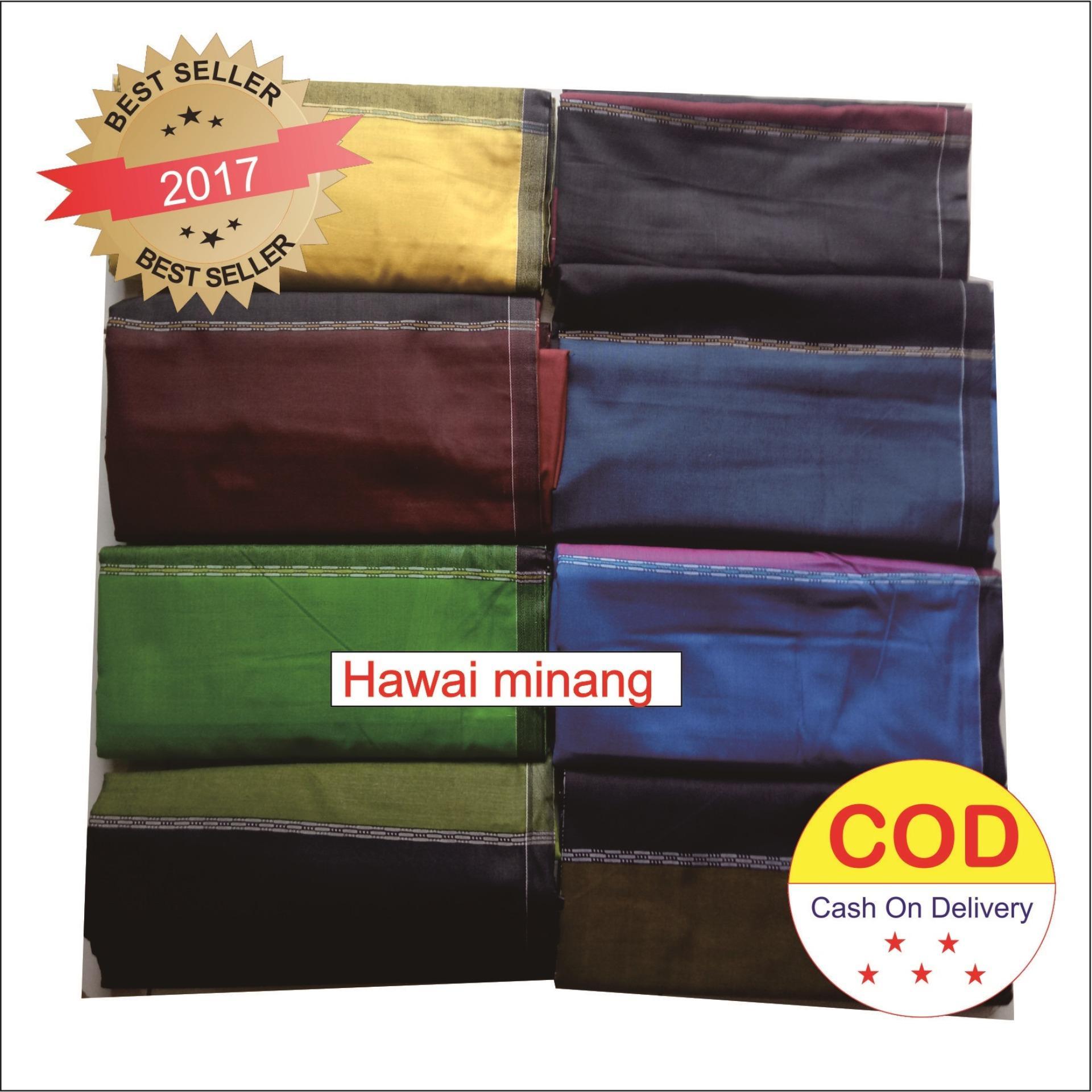 Wadimor Sarung Tenun motif Hawai warna Random
