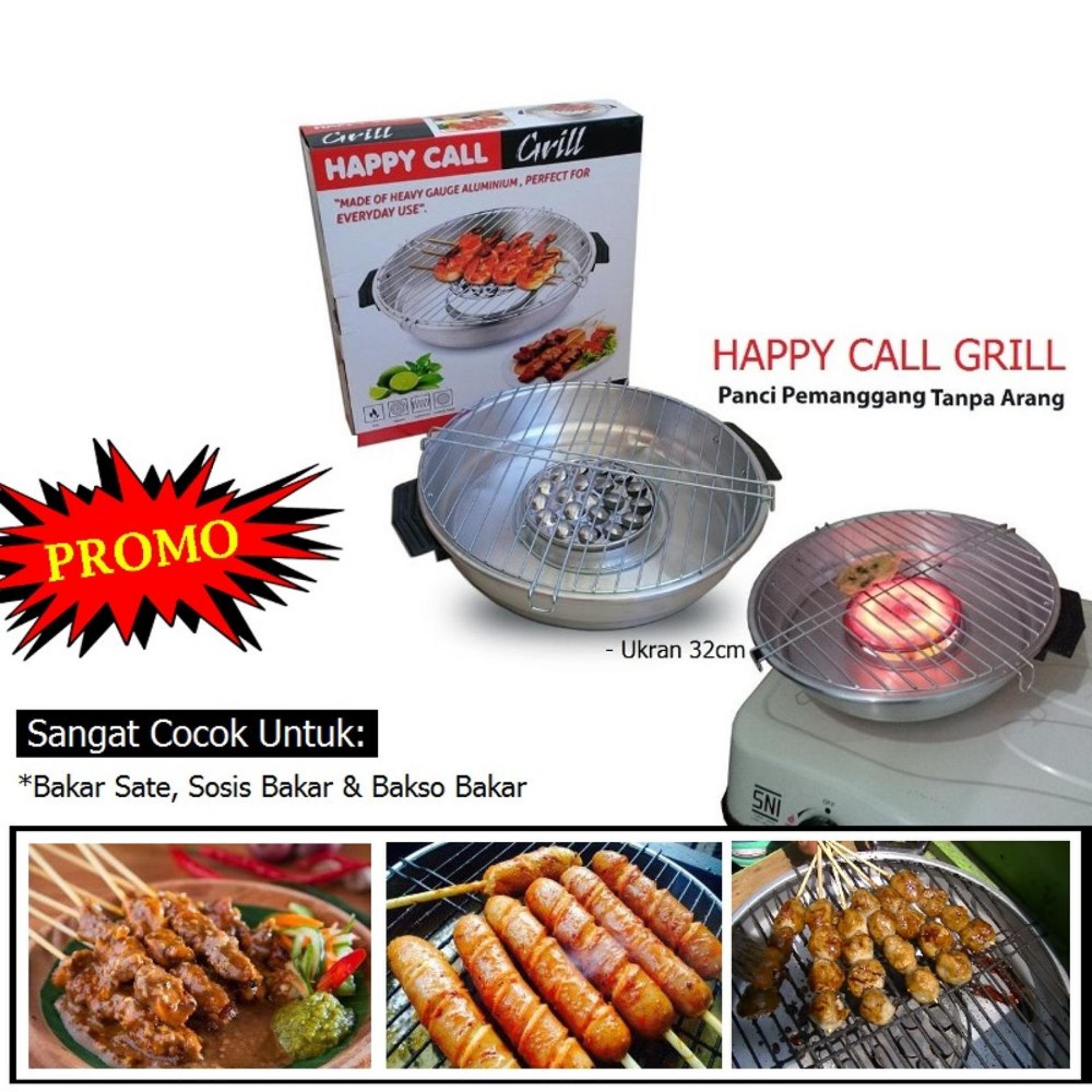 Alat Pemanggang Termurah Hock Oven Aluminium 02 Tempat Arang Ismart Happy Call Grill Roaster Panggang Modern