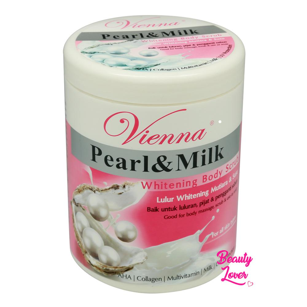 Vienna Whitening Body Scrub Pearl & Milk - 1kg By Beauty Lover