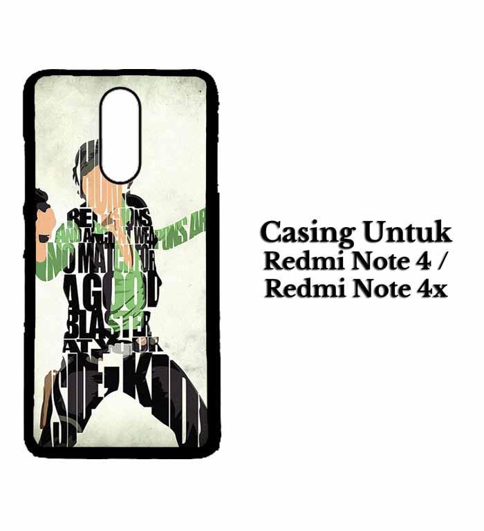 Casing XIAOMI REDMI NOTE 4X Han Solo Typography Hardcase Custom Case Se7enstores