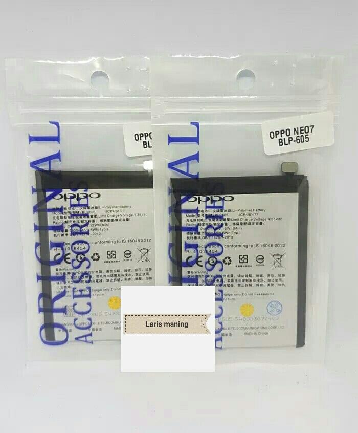 Baterai Battery Batre Oppo Neo 7 A33 A33W Oppo F1 BLP605 BLP-605 Original NEW,